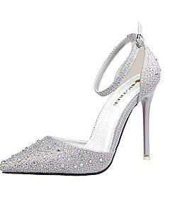 Pantofi pentru femei-Imitație de Piele-Toc Stiletto-Tocuri / Vârf Ascuțit-Pantofi cu Toc-Nuntă / Rochie / Party & Seară-Negru / Roz /