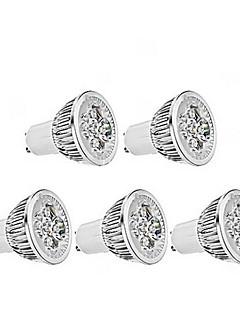 5W GU10 LEDスポットライト MR16 1 350-400 lm 温白色 明るさ調整 交流220から240 V 5個