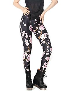 Damer Trykt mønster Legging Polyester Normal
