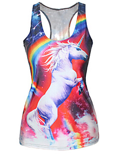 Women's Galaxy Pink Tanks,U Neck Sleeveless