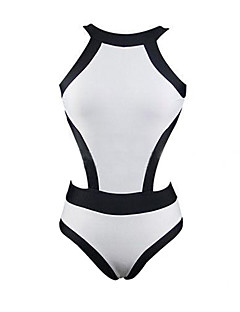 ספורטיבי לנשים בגדי ים ייבוש מהיר ביקיני פוש אפ מיתרים לבן / ירוק / ורוד לבן S / M / L