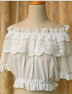 Sweet Lolita Short Sleeve White / Black FRP Lolita Dress