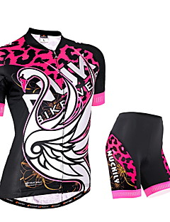 NUCKILY® Cycling Jersey with Shorts Women's Short Sleeve Bike Breathable / Reflective Strips / Back PocketArm Warmers / Jersey + Shorts /