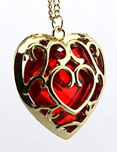 Jewelry Inspirirana The Legend of Zelda Cosplay Anime / Video Igre Cosplay Pribor Ogrlice Crvena / Plava Alloy / Artificial GemstonesMale