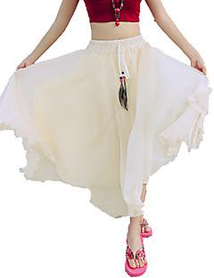 Semester / Strand Midi Kjolar Kvinnors Oelastisk Polyester
