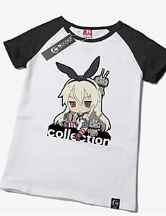 Inspiriert von Kantai Collection Shimakaze Anime Cosplay Kostüme Cosplay-T-Shirt Druck Kurzarm T-shirt Für Unisex