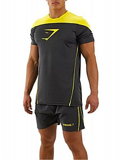 Miesten T-paita vaellukseen Nopea kuivuminen Ultraviolettisäteilyn kestävä Hengittävä Pehmeä Kevyet materiaalit Hikeä siirtävä Pehmeys