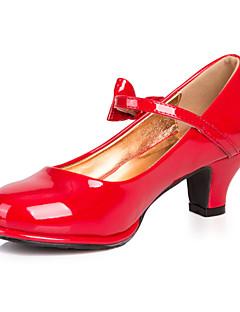 Mädchen-High Heels-Kleid / Lässig-Kunstleder-Blockabsatz-Rundeschuh-Schwarz / Rosa / Rot / Silber