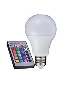 10W / 15W E26/E27 LED-pallolamput A60(A19) 6000 Teho-LED 500-650 lm RGB Kauko-ohjattava AC 85-265 V 1 kpl