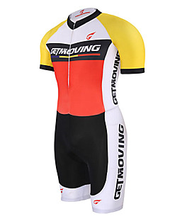 Getmoving® Tri Suit Unisex Short Sleeve BikeBreathable / Quick Dry / Anatomic Design / Moisture Permeability / Compression / Lightweight