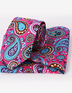 Fashion Men Casual Floral Skinny Necktie Kerchief Set(Width:6.5cm)