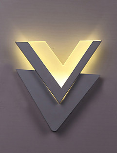 Indoor Modern Acrylic LED Wall Light Letter V Bedside Lamp Corridor Lights AC86-265V