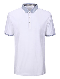 Sieben Brand® Herren Hemdkragen Kurze Ärmel T-Shirt Weiß-702T511580