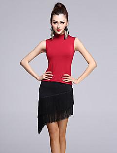 Latin Dance Dresses Skirts Shorts Women's Performance Rayon / Modal Tassel  Black / Burgundy Colors