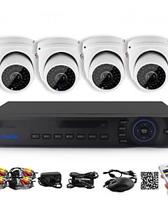 YanSe® 1100TVL 2.8mm 4CH CCTV Cameras Seystem DVR Kit IR Color Waterproof Security Cameras D/N (8CH 960H HDMI DVR)