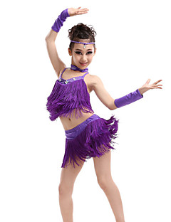 Latin Dance Outfits Children's Performance Spandex / Polyester Cute Tassel(s) Dance Costumes