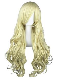 Cosplay Wigs K-ON Tsumugi Kotobuki Golden Long Anime Cosplay Wigs 80 CM Heat Resistant Fiber Male / Female
