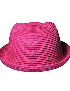 Women Orecchiette Cute Straw Bear Ears Beach Hat