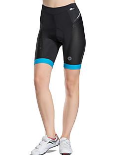 TASDAN® Bermudas Acolchoadas Para Ciclismo Mulheres Respirável / Secagem Rápida / Compressão / Tiras Refletoras / Redutor de Suor Moto