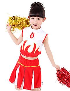 Optredens Outfits Kinderen Prestatie elastan Gedrapeerd / Pailletten 2-delig Mouwloos Rok / BovenkledingTop length:XS:26cm S:28cm M:30cm