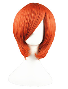 Cosplay Wigs One Piece Nami Orange Short Anime Cosplay Wigs 35 CM Heat Resistant Fiber Male / Female