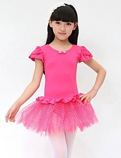 Ballet Jurken Kinderen Prestatie Katoen Strik(Ken) 1 Stuk Mouwloos Natuurlijk Jurken Dress Length: XS:51cm S:53cm M:55cm L:57cm XL:61cm