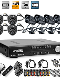 Uiterst scherp geprijsde 8-kanaals H.264 CCTV DVR-kit (8 CMOS nachtzichtcamera's)