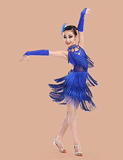 Czy tańczymy latynoski sukienki dziecięce spandex / poliester bezrękawice (s) kostiumy taneczne