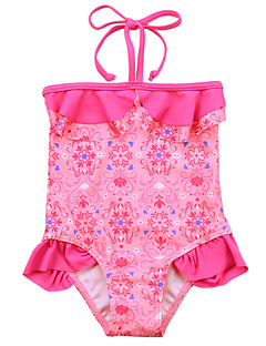 Cute One Piece Girls Baby Tankini Halter Swimsuit Bikini Swimwear 1-7Y Kids Floral Swimming Costume Beachwear