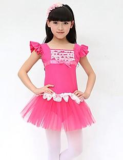 Balé Vestidos Crianças Actuação Algodão Arco(s) 1 Peça Sem Mangas Natural Vestidos Dress Length: XS:51cm S:53cm M:55cm L:57cm XL:61cm