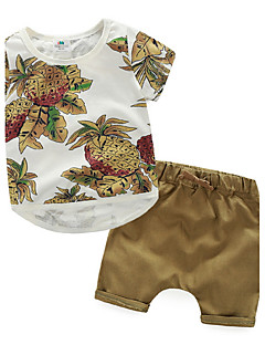 2pcs Toddler Kids Baby Boy Clothes Sets Flower Printed T-Shirt Tops and Short Pants Outfits Clothing Set Fashion