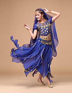 fogunk hastánc ruhák nők teljesítményét sifon flitterek 4 db tánc jelmezek