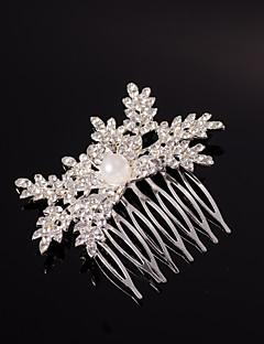 Bergkristal / Kristallen / Licht Metaal Vrouwen Helm Bruiloft / Speciale gelegenheden Haarkammen Bruiloft / Speciale gelegenheden 1 Stuk