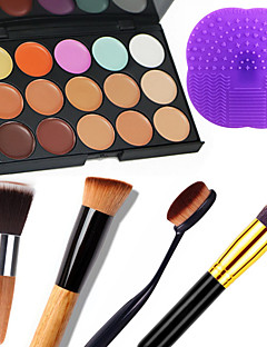 15 Correcteur/Contour+CorrecteurSacs et Nettoyants pour Pinceaux Pinceaux de Maquillage Humide Mat Lueur Visage CaisseHumidité Protection