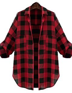 DONNE - Camicie casual - Informale / Lavoro A camicia - Maniche lunghe Cotone / Poliestere
