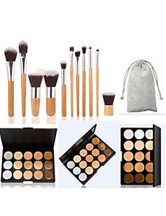 New 15 Colors Concealer Contour Palette Kit With Brush Face Makeup Cream