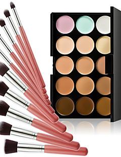 15 Correcteur/ContourPinceaux de Maquillage Sec VisageGloss coloré Couverture Blanchiment Anti Peau Grasse Correcteur Tonalité Inégale de