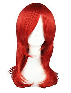 Cosplay Wigs The Prince of Tennis Ace Red Medium Anime Cosplay Wigs 55 CM Heat Resistant Fiber Male / Female