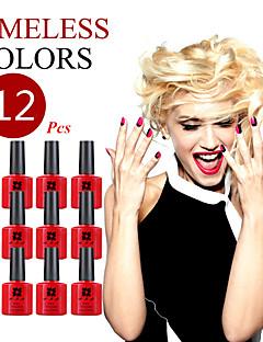 (Wählen Sie 12) ana Nagel-10ml 200 Modefarbe langlebige LED-Gelpoliermittel Top-Mode