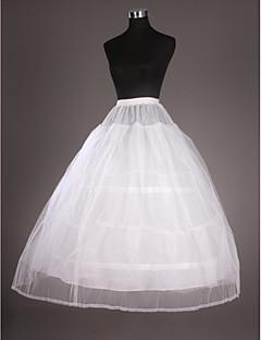 תחתונית  סליפ שמלת נשף אורךTea 2 רשתות בד טול טפטה לבן