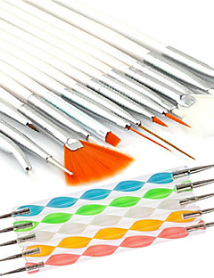 15pcs Nail Art Malerei Zeichenstift Pinsel mit 5pcs 2-Wege Marbleizing Zeichenstift-Werkzeug eingestellt