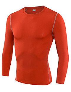 Men's Long Sleeve Running T-shirt Base Layers Compression Clothing Breathable Quick Dry Compression Sweat-wicking Sports WearExercise &