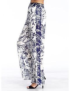 Dame Bredt Bukseben Bukser-Enkel I-byen-tøj Alm. taljede Polyester Uelastisk Efterår