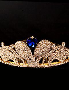 Dame Rhinsten Medaljon-Bryllup / Speciel Lejlighed Diademer 1 Stykke Blå