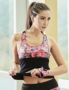 Outros®Ioga Blusas Respirável / Macio Stretchy Wear Sports Ioga / Pilates / Corrida Mulheres