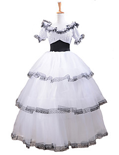 Short Sleeve southern belle costume White Lace Classic Lolita Dress