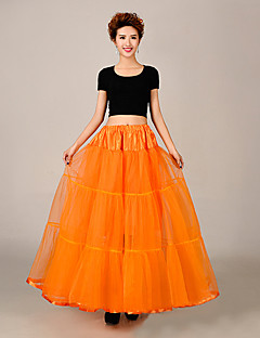Slips A-Line Slip Floor-length 3 Tulle Netting / Polyester Bridal Wedding Petticoats (Assotred Colors)