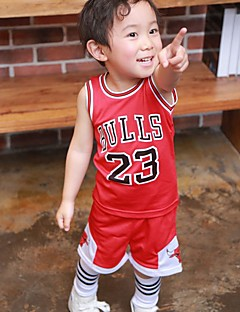 Boy's Sports Print Clothing Set,Cotton Spring Black / Red / White