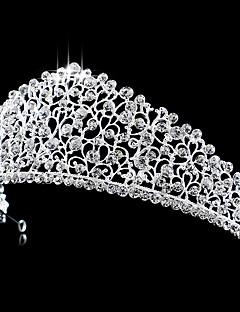 נשים ריינסטון קריסטל נחושת כיסוי ראש-חתונה אירוע מיוחד נזרים חלק 1