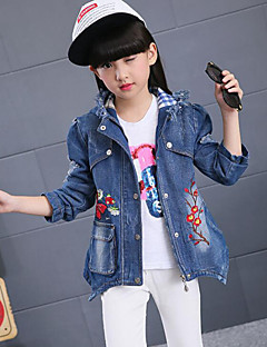 Girl's Casual/Daily Floral Jeans / Suit & Blazer,Rayon Spring / Fall Blue